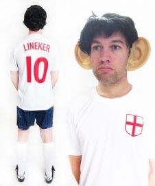 Gary Lineker England Funny Football Fancy Dress Costume